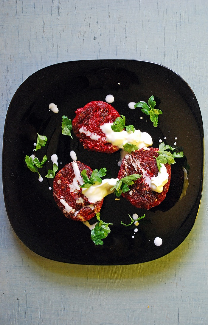 Beetroot and Apple Fritters
