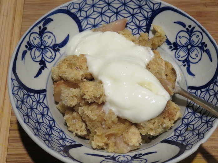 Chia, coconut and apple crumble recipe