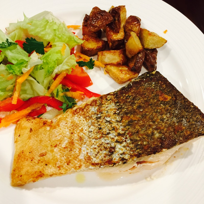 Crispy Skin Salmon And Chips 