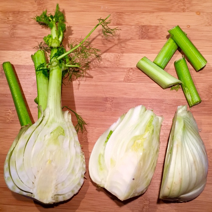 Fennel - use the stalk and bulb to make chips