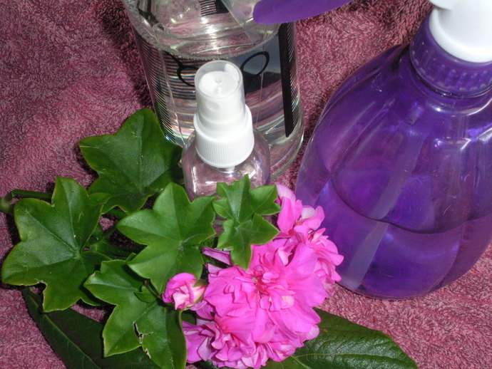 flower,leaves,spray,bottle,plastic