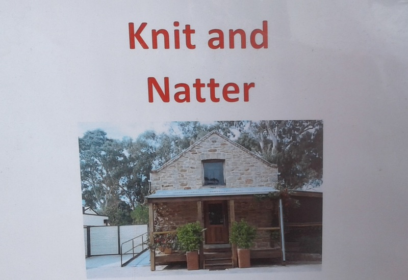 knit and natter poster  - Four health benefits of knitting