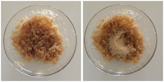 Lemon and Raw Sugar Scrub Montage