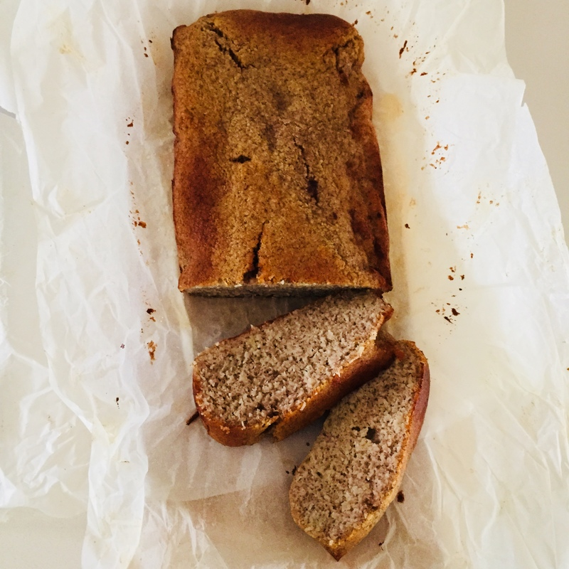 Light and fluffy banana and coconut bread 