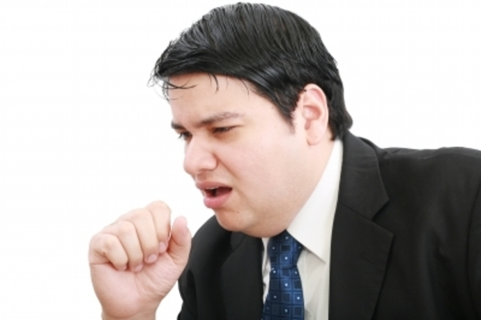 man coughing, cough