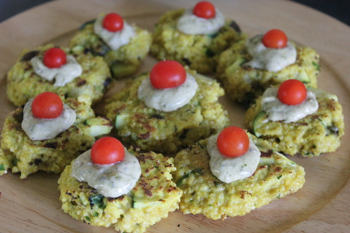 millet patties, millet recipe