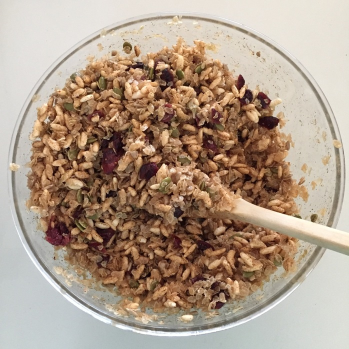 The gluten free muesli ingredients