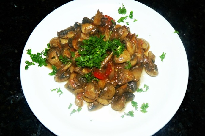 mushroom recipe, zesty mushrooms
