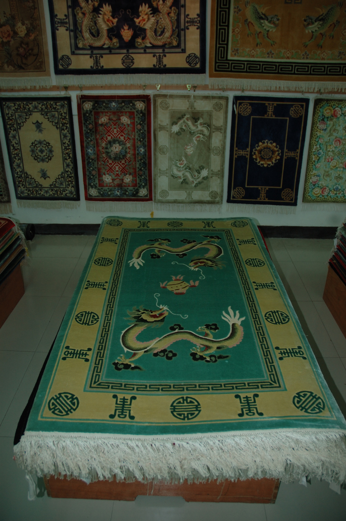 Wool Rugs Being Made