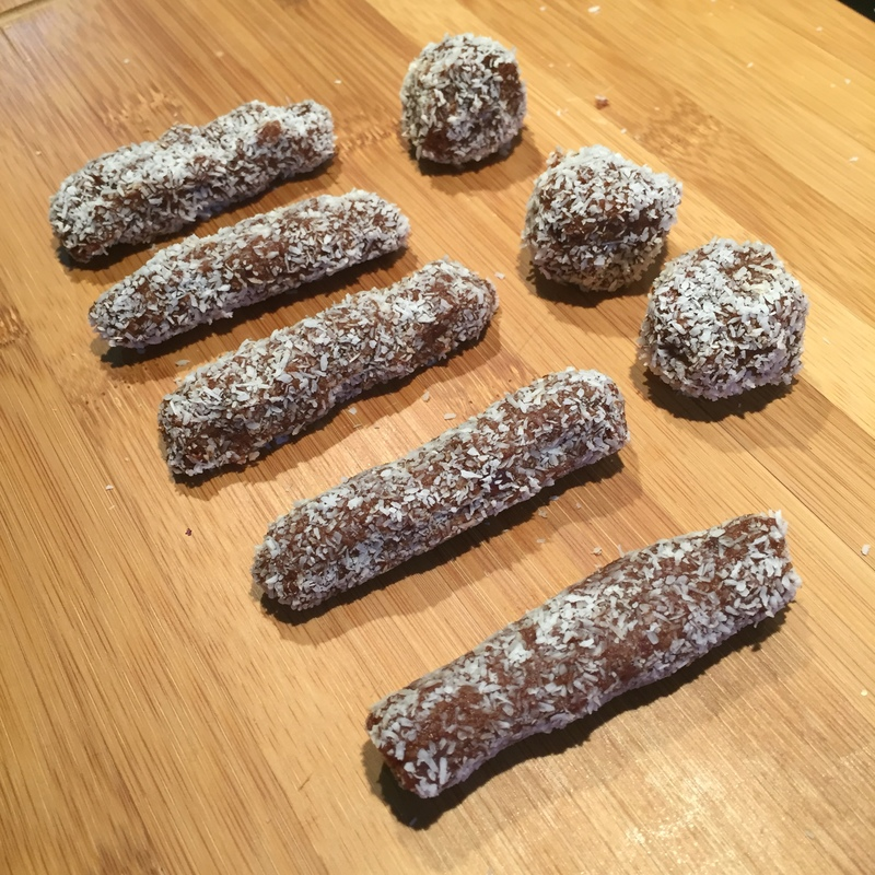 No Blend Chocolate Date Rolls  - No Blend Chocolate Date Log And Rolls
