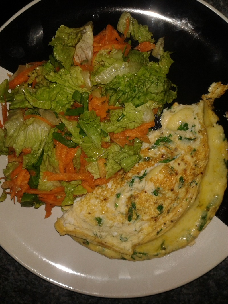 Omelette   - My health and fitness journey begins - Jetts 8 Week Challenge - week 1