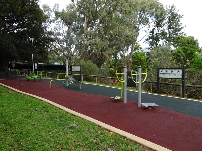 Outdoor Exercise Equipment In Public Park