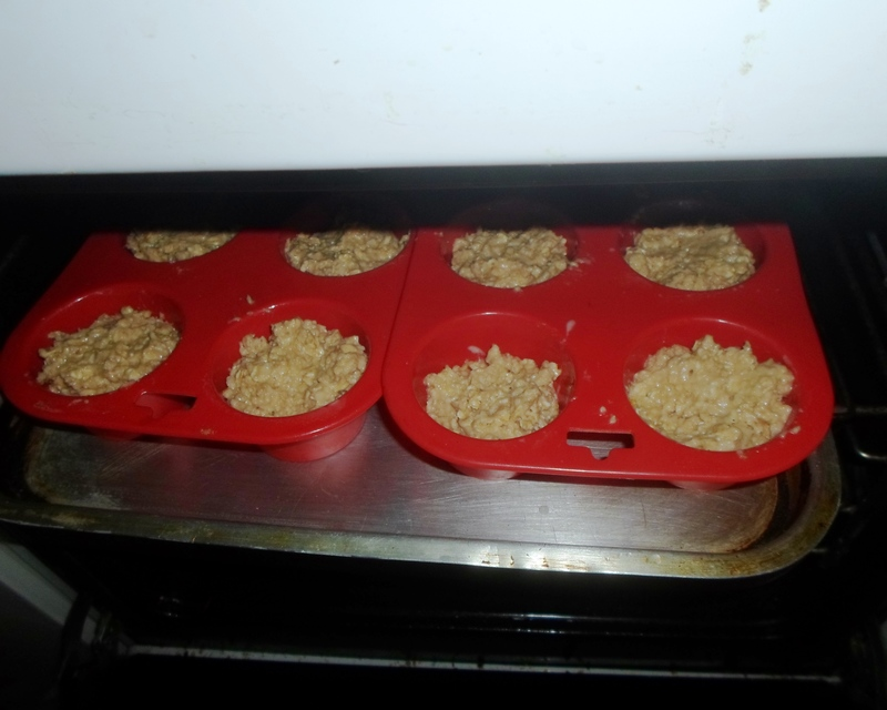 Mix all ingredients  - Oat Muffins
