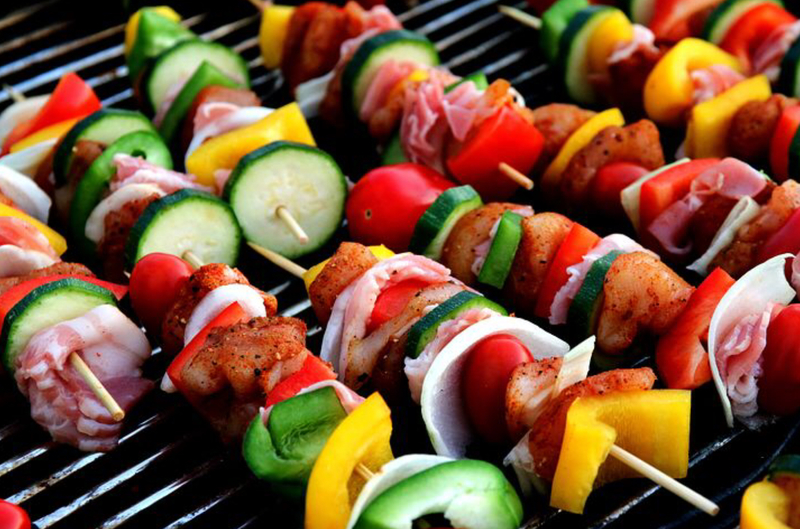 Rainbow kebabs  - Proactive Health #3 Switch up your diet and reduce fatigue
