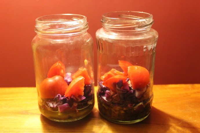 salad in a jar, easy salad recipe, simple salad recipe, rocket