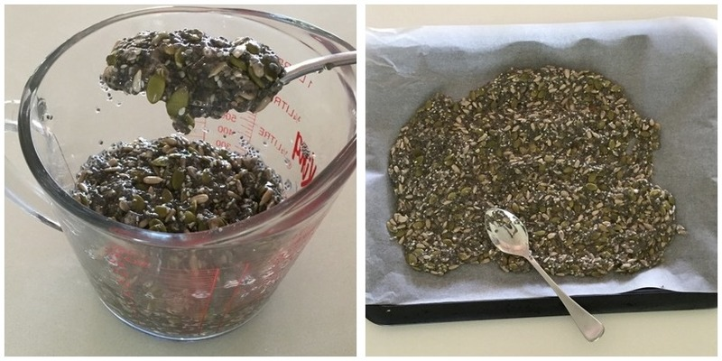 Seed crackers (four ingredient, gluten free) Montage - Seed crackers (four ingredient, gluten free)