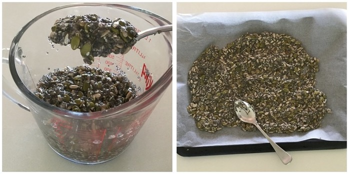 Seed crackers (four ingredient, gluten free) Montage