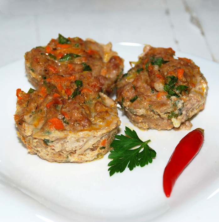 Simple Mini Meatloaf