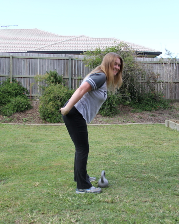 Tight rear end with kettlebell swings