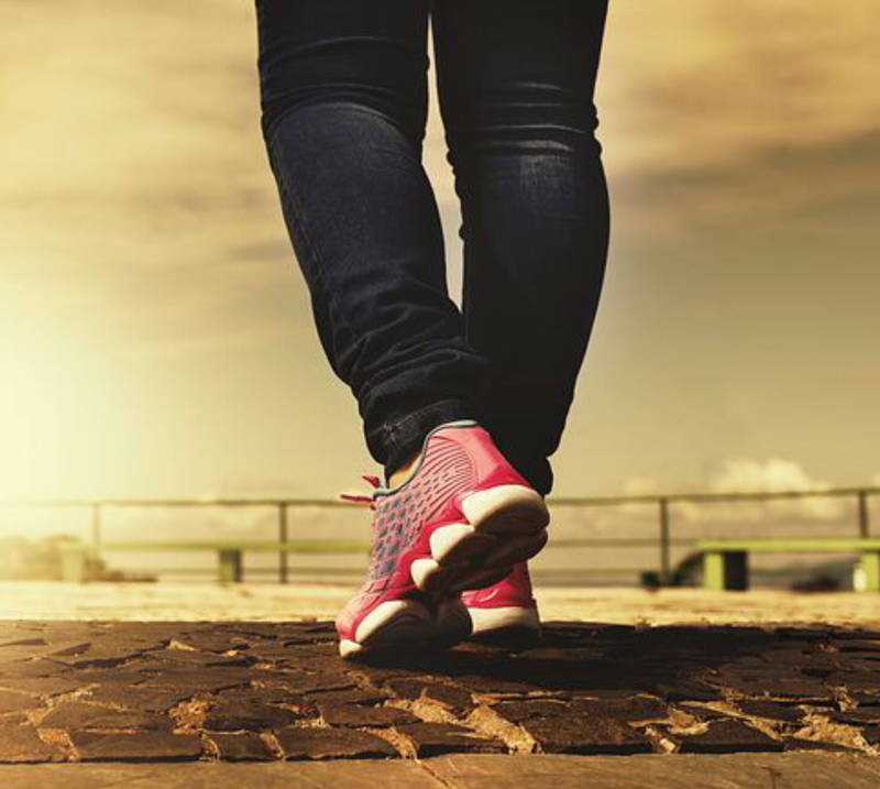 Walking is an easy way to increase fitness and burn calories